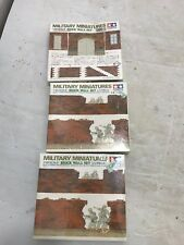 Tamiya Military Miniatures BRICK WALL-1/35 Scale New in Box Lot of 3