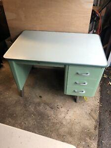 all steel small vintage Teachers desk   Look