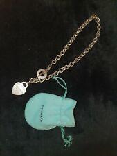 Tiffany Co ladies silver necklace