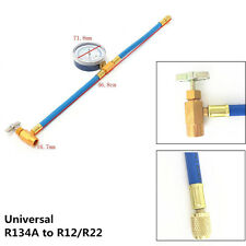Auto Air Conditioning Refrigerant Recharge Hose & Pressure Gauge Kit Universal