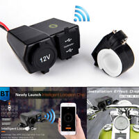 Car Motorcycle Real Time GPS Tracker Dual USB Charger Digital Voltmeter Socket