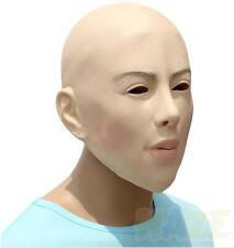 Halloween Cosplay Mask Props Realistic Female Bald Face Mask Latex Mask Fullhead