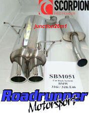 Scorpion BMW 316 E46 Cat Back Exhaust System Stainless Steel SBM051 (98-2005)