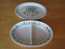 Beautiful Tulip Time Franciscan Earthenware: Divided Vegetable Bowl & Platter