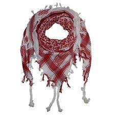 Pañuelo palestino palestina 100% algodón color blanco y rojo. Aprox. 100x100 cm