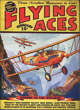 Flying Aces-February, 1937-Arch Whitehouse, Joe Archibald-Schomburg Cover Art