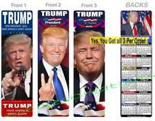 PRESIDENT DONALD TRUMP 2019 CALENDAR BOOKMARK-3 Set-Make American GREAT Again