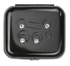 Wellspring Small Light Mini Purse Sized Pill Box #2601 Cleo Black Circles w/Gems