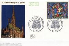 1966**ENVELOPPE 1°JOUR!!!**VITRAIL DE LA SAINTE-CHAPELLE-PARIS**TIMBRE Y/T 1492