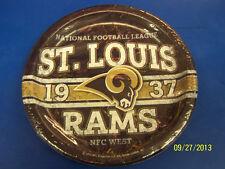 "Saint Louis Rams St NFL Pro Football Sports Banquet Party 9"" Paper Dinner Plates"