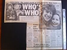 Dr Who Newspaper Article TOM BAKER Oversizd Clipping THE SUN,1980 Scrapbook RARE