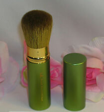 New I.D. Bare Escentuals Retractable Flawless Application Face Brush Green Case