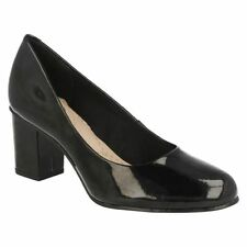 Clarks Block Patternless Standard Width (D) Heels for Women