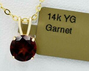 GENUINE 1.24 Cts GARNET PENDANT 14K GOLD **MADE IN USA** Free Appraisal Service