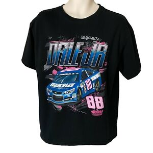 Dale Earnhardt Jr NASCAR All Over Print T Shirt Size L 88 Double Sided