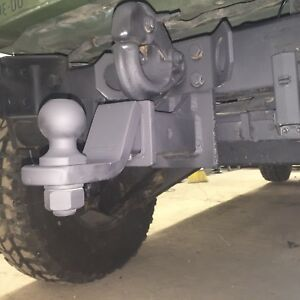 """MILITARY PINBALL HITCH + MOUNTING HARDWARE FIT M151 JEEP M998 HUMVEE 2"""" RECEIVER"""