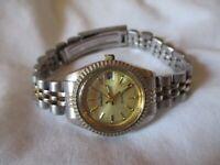 Neiman Marcus Watch Women's Dual-Toned Gold/Silver Link Band Analog Wristwatch