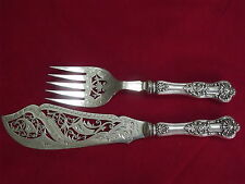 Henry Barnascone & Son Sterling Repousse Fish Slice Fork set Victorian