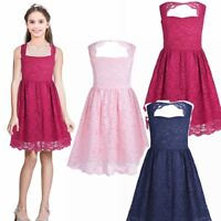 Flower Girl lace Princess Dress Kid Party Pageant Wedding Bridesmaid Dresses