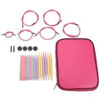 10 Pairs Aluminum Change Head Circular Knitting Needle Crochet Hooks Set
