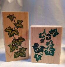 2 Rubber Stampede Stamps A204F A2204F Ivy trailing climbing leaves Designs plant