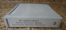 Hp 16520A/16521A Pattern Generator Module Reference Manual
