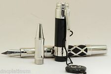 Laban Elegant Off White With Gold Trim Fine Point Fountain Pen LPF-968-IVPG-F