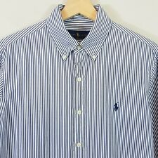 POLO RALPH LAUREN Mens Size M Striped L/S Shirt
