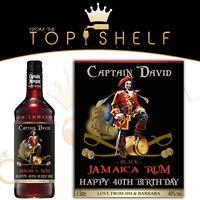 personalised dark rum Jamaica bottle label replica birthday any occasion