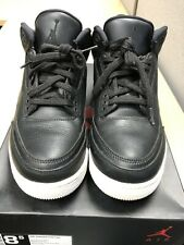 Nike Air Jordan III (3) Retro Black-White GS GA Pre-Owned W/Box Mens Size 8.50