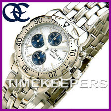 Gents Mens Oskar Emil Caesium Steel Chronograph Sports White Dial Watch £295