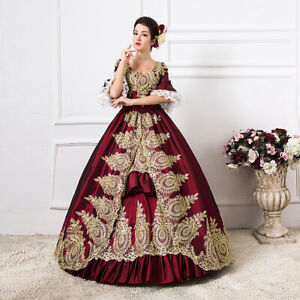 Women Vintage Renaissance Dress Marie Antoinette Rococo Baroque Cosplay Costume