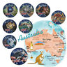 8pcs 2017 Australia Endangered Animal Colored Silver Commemorative Coin Set $1