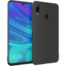 ebeststar Coque Huawei P Smart 2019 Housse Etui Gel Motif Fibre Carbone, Noir