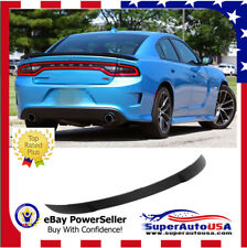 2011-2018 Dodge Charger Hellcat Style SRT Rear Wing Spoiler Painted Gloss Black