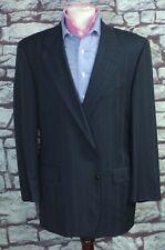 Hickey Freeman Men's Navy Blue Stripe All Season Wool Suit 44L 44 Long