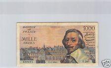 FRANCS 1000 FRANCS RICHELIEU 5.7.1956 ALPHABET T.267 !!!!