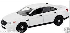First Response 1/43 2014 Ford Interceptor Sedan Police Car - Blank White