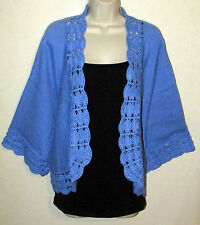 Woman's 5X (38/40) Cotton Blend Shrug Bolero Cropped Cardigan New in Package