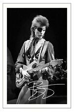 DAVID BOWIE SIGNED PHOTO PRINT AUTOGRAPH BLACKSTAR ZIGGY STARDUST