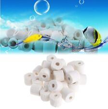Aquarium Material Ceramic Bio Porous Filter Media Biological Ring For Fish Tank