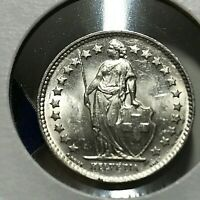 1951-B SWITZERLAND 1/2 SILVER FRANC BRILLIANT UNCIRCULATED COIN