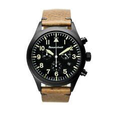 Messerschmitt-Chrono ME5030-44VS,PVD Black,Quartz Watch,Vintage,Aviator Watch