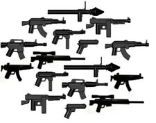 16 BrickArms weapon pack, WW2 Gun items for LEGO Minifigures Black New Lot M1 AK