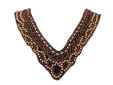 Tribal étnico de oro granos profundo V-Cut declaración babero Collar Regalo Fiesta Joyas