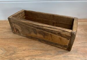 40cm long Handmade Rustic Wooden storage long Box / plants holder, centrepiece