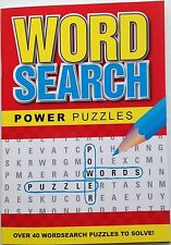Word Search / wordsearch Power Puzzle Book - red cover