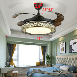 Ventilateur de plafond 42 pouces avec lampe de ventilateur télécommandée à LED
