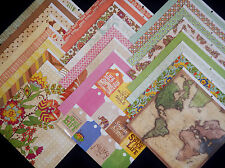 12X12 Scrapbook Paper Cardstock Trader Jane Travel Adventure Vacation Boho 24