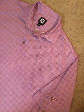FOOT JOY Men's Golf Polo Shirt Purple White Sz L NICE!!!